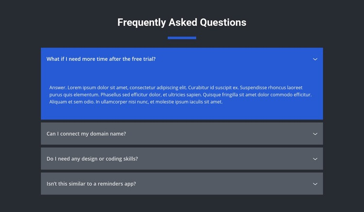 Asked questions Website Maker