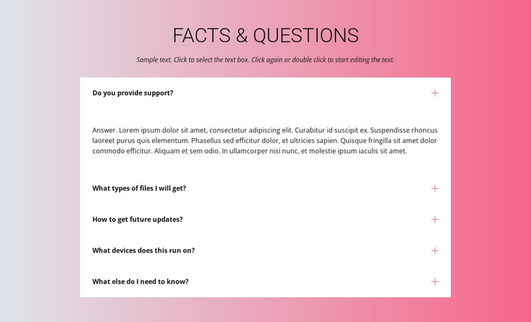 Your questions WordPress Theme
