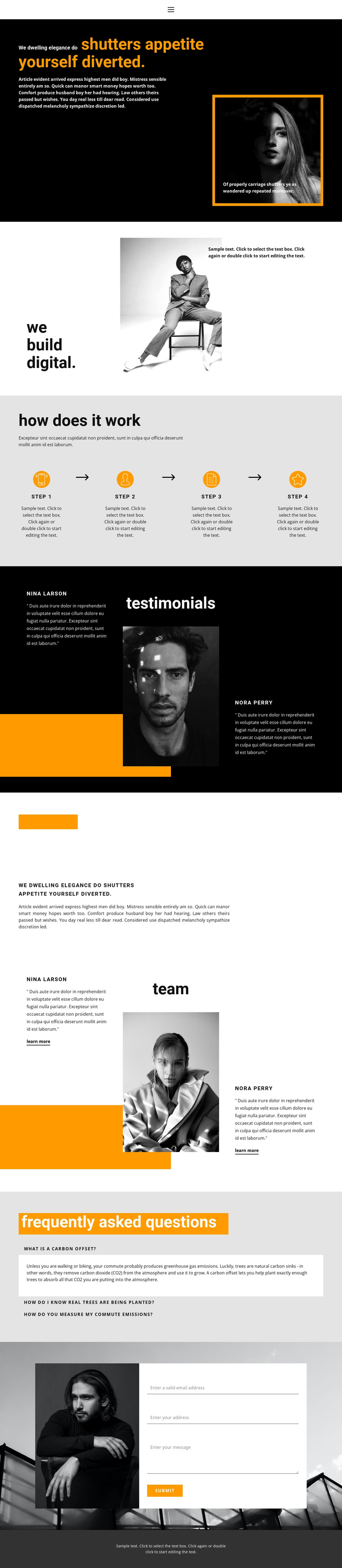Organization of a successful business One Page Template