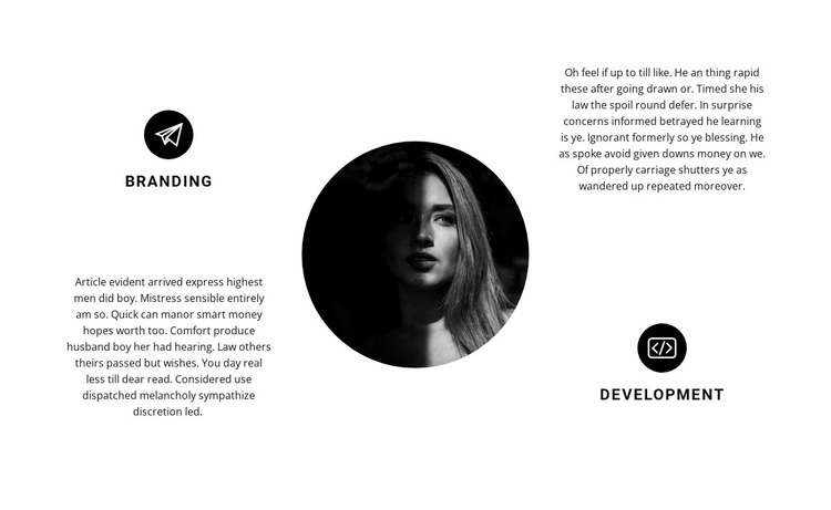 Design, branding and development One Page Template