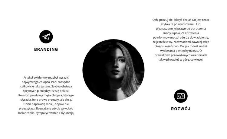 Projekt, branding i rozwój Szablon witryny sieci Web