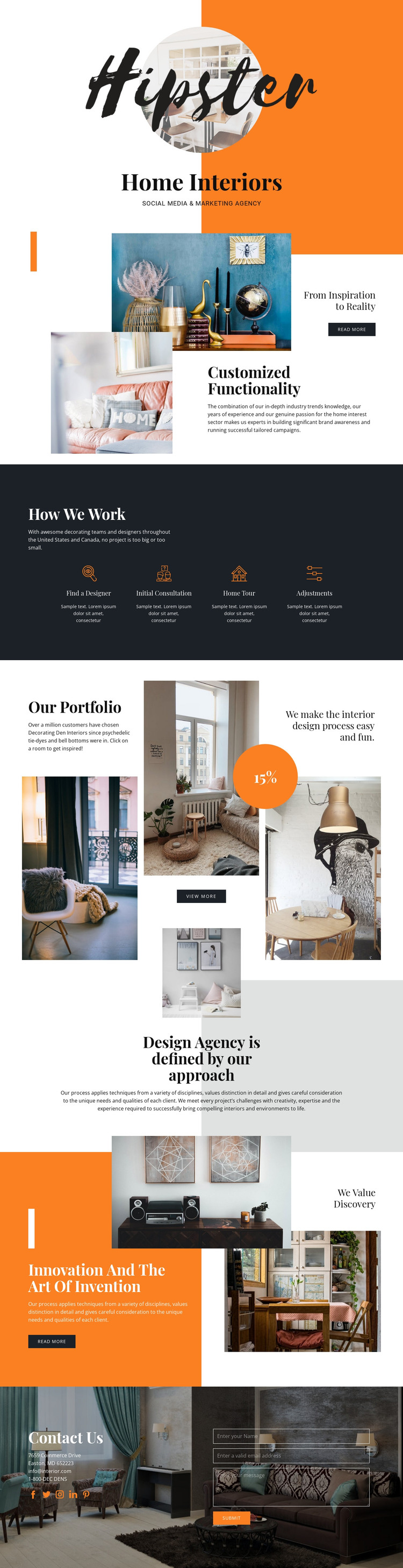 Hipster HTML Template