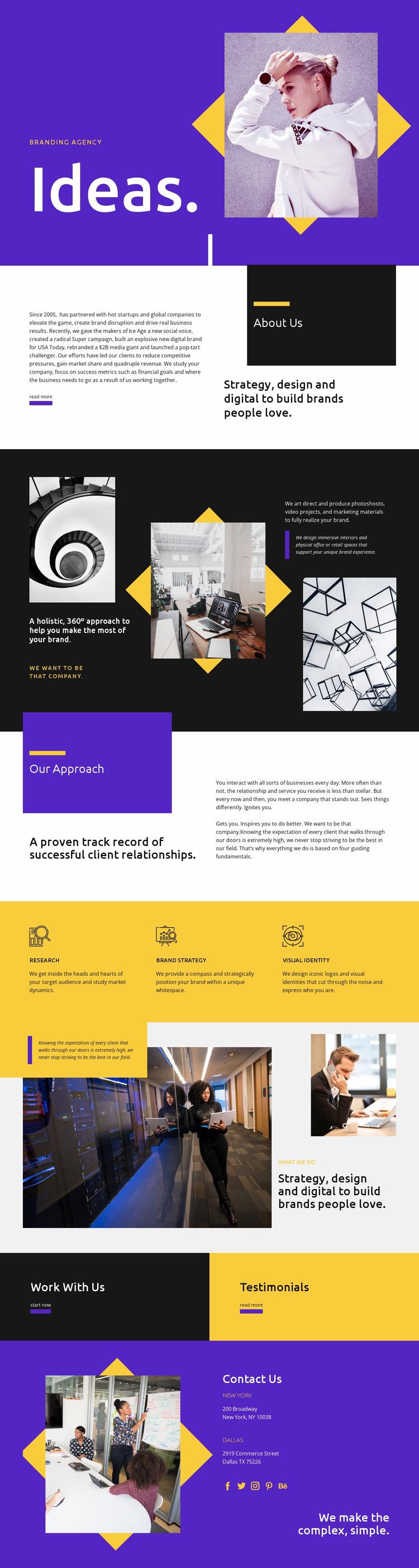Ideas Website Mockup