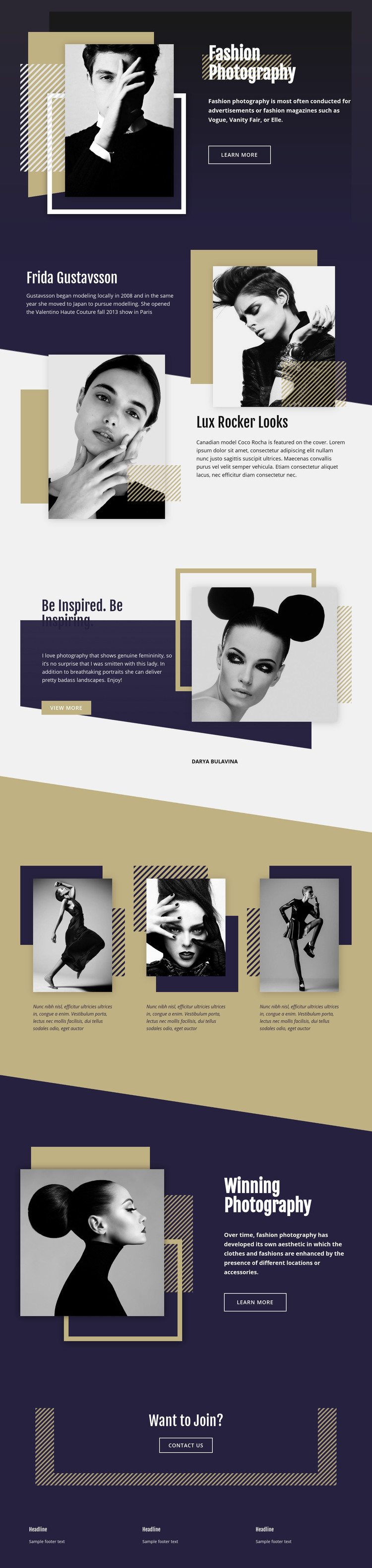 Fashion Photography Homepage Design