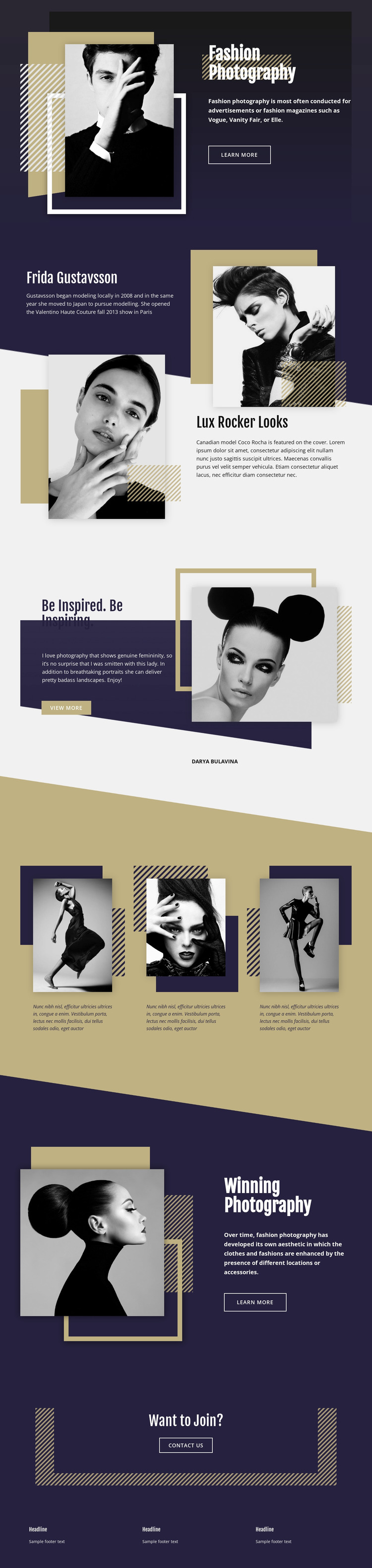 Fashion Photography Website Mockup