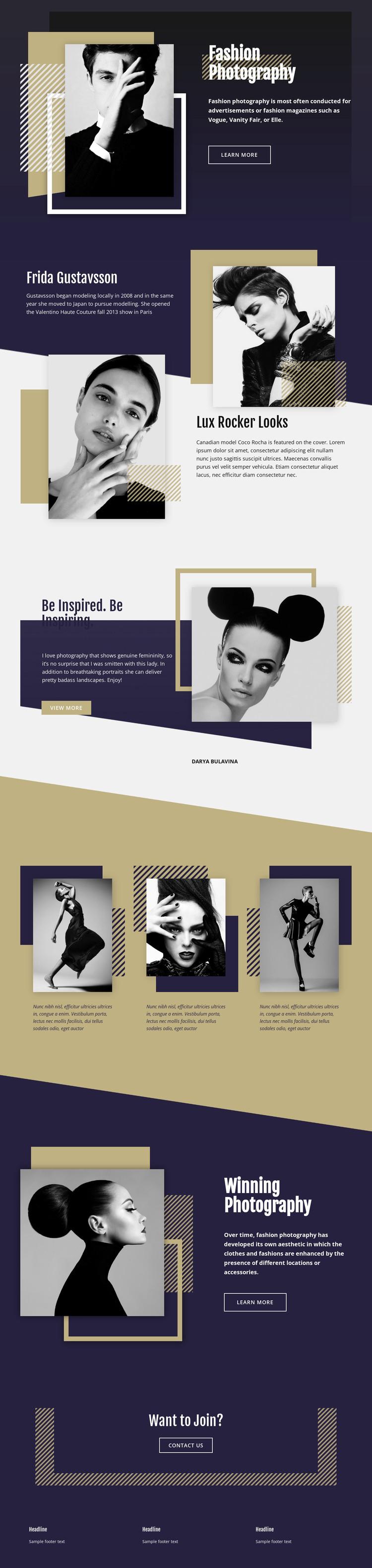 Fashion Photography WordPress Theme
