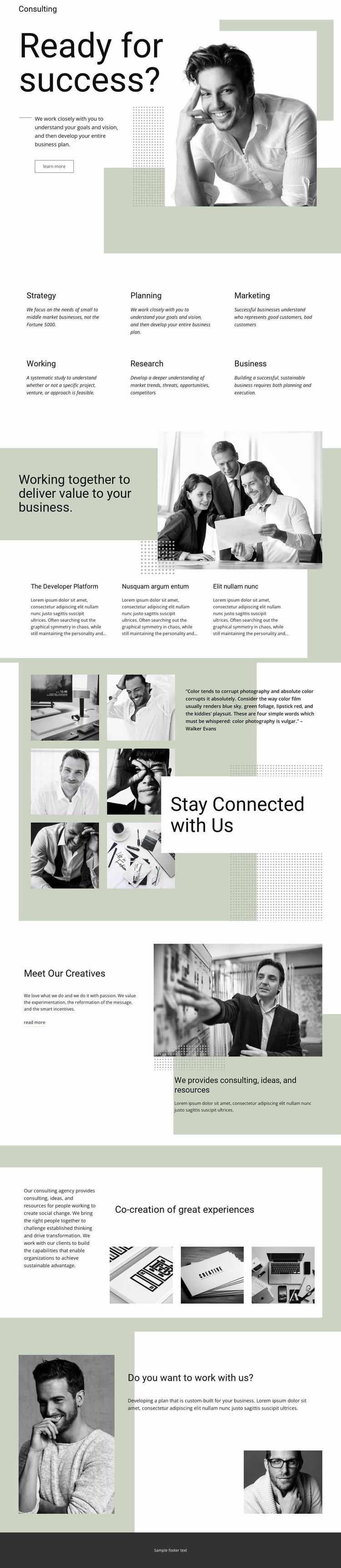 Understanding business Website Mockup