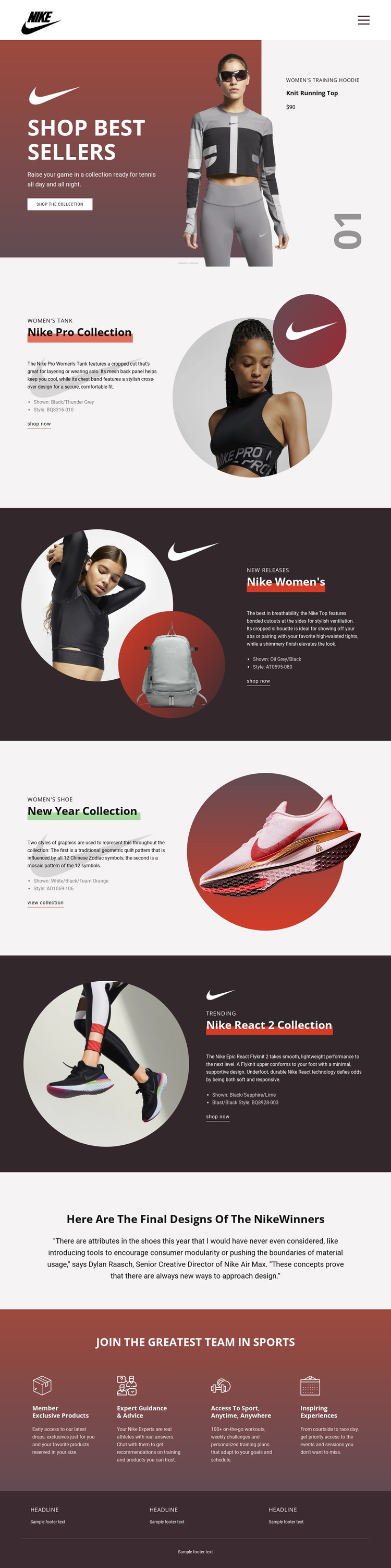 Best sellers for sports HTML Template