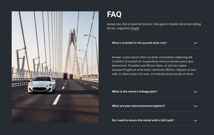 Questions to ask when renting a car Html Code Example