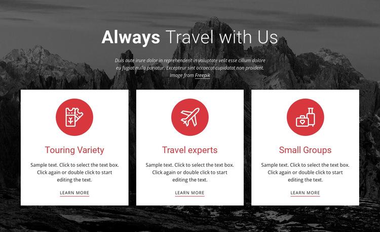 Big adventures HTML5 Template
