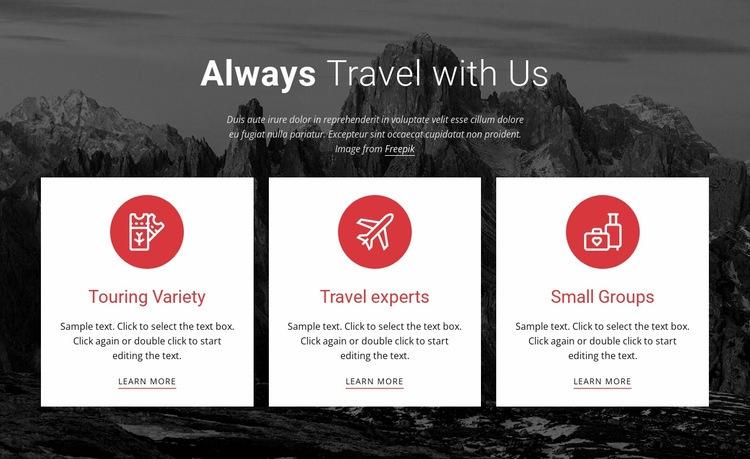 Big adventures Web Page Design
