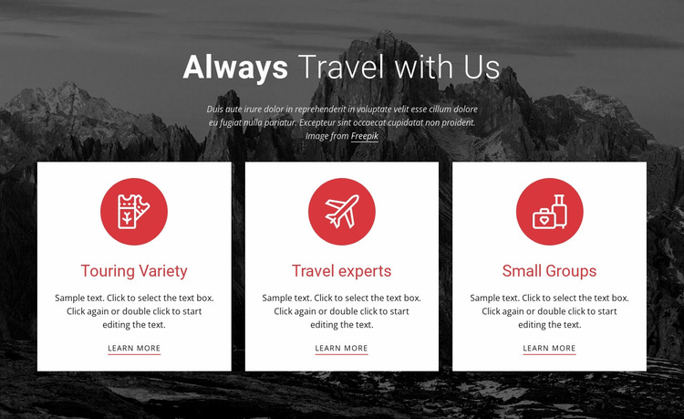 Big adventures Website Builder
