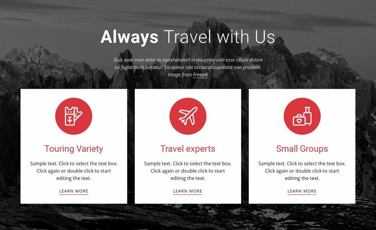 Big adventures Website Design