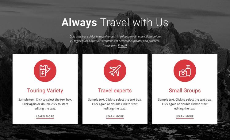 Big adventures Website Mockup