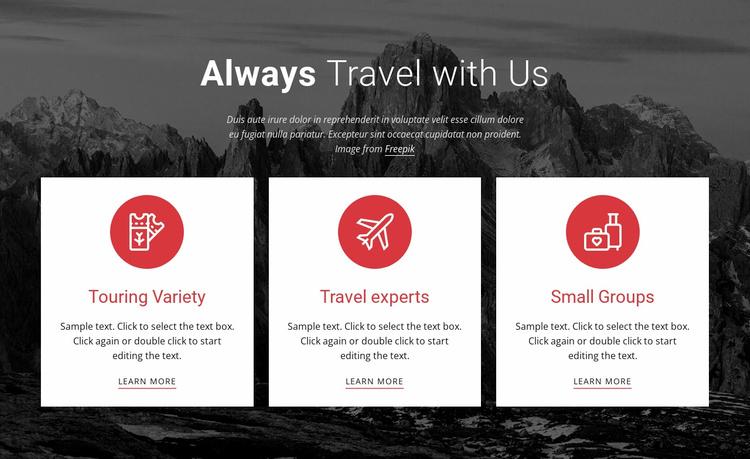 Big adventures Website Template