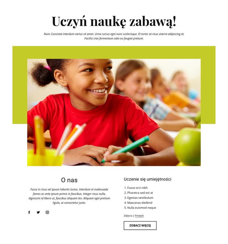 Skuteczne działania edukacyjne Szablon witryny sieci Web