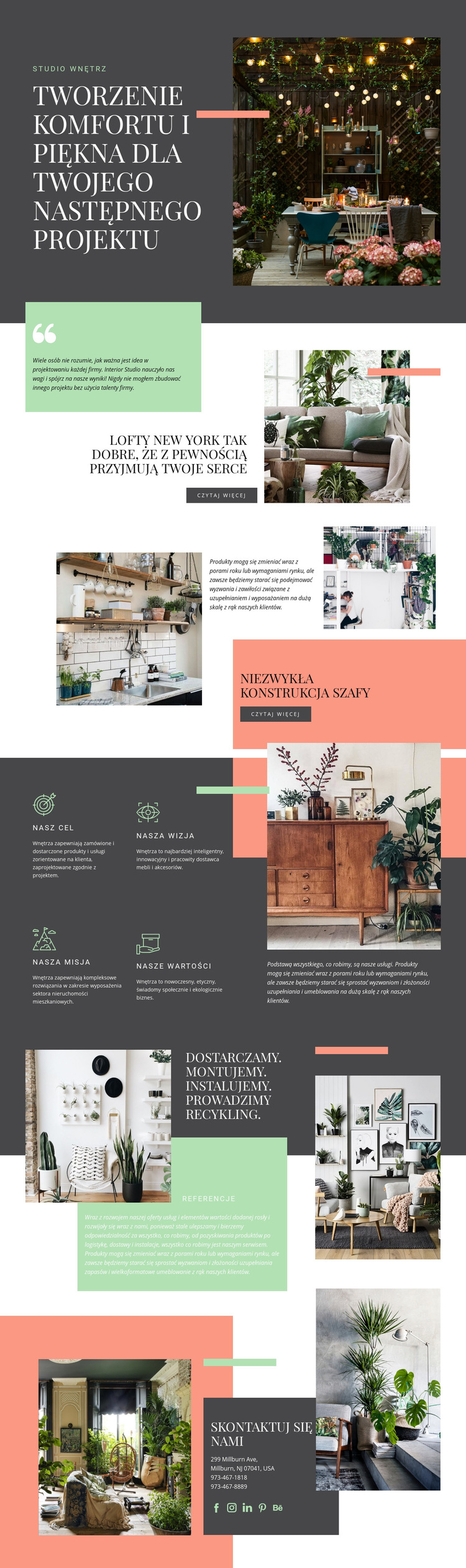 Komfort w Twoim domu Szablon witryny sieci Web