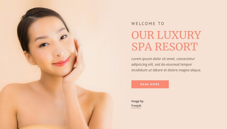 Our luxury spa resort CSS Template
