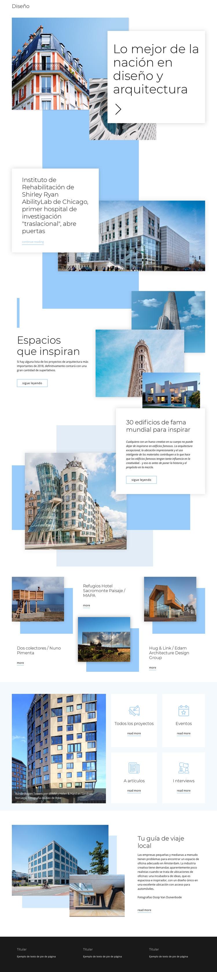 Calificación de arquitectura Plantilla de sitio web