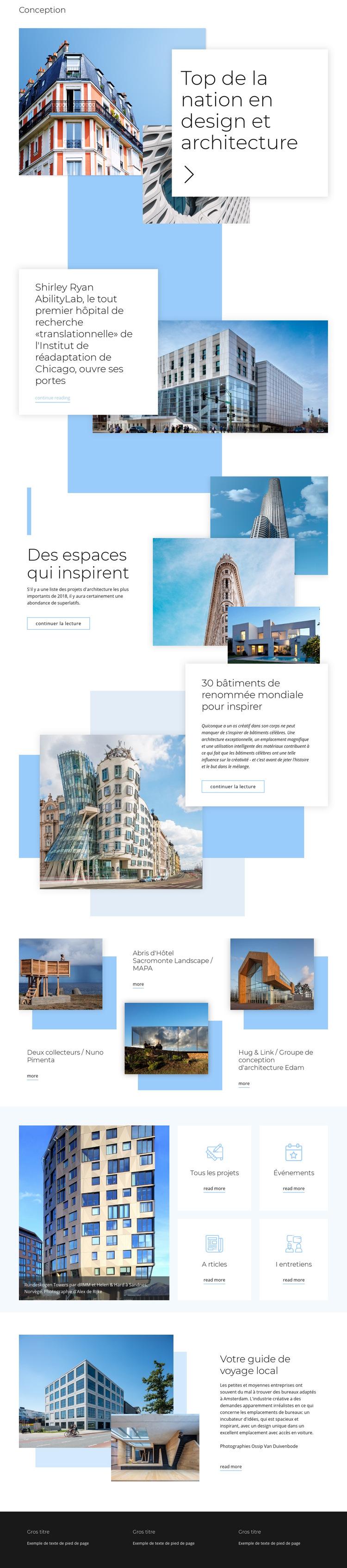 Évaluation de l'architecture Modèle de site Web