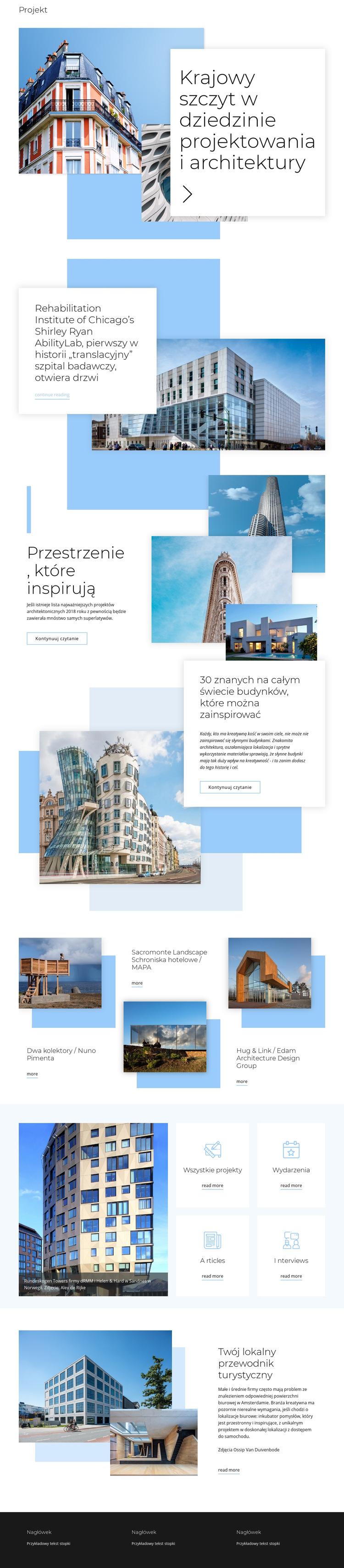 Ocena za architekturę Szablon witryny sieci Web