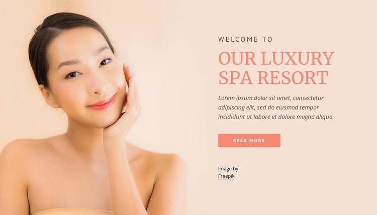 Our luxury spa resort Website Mockup