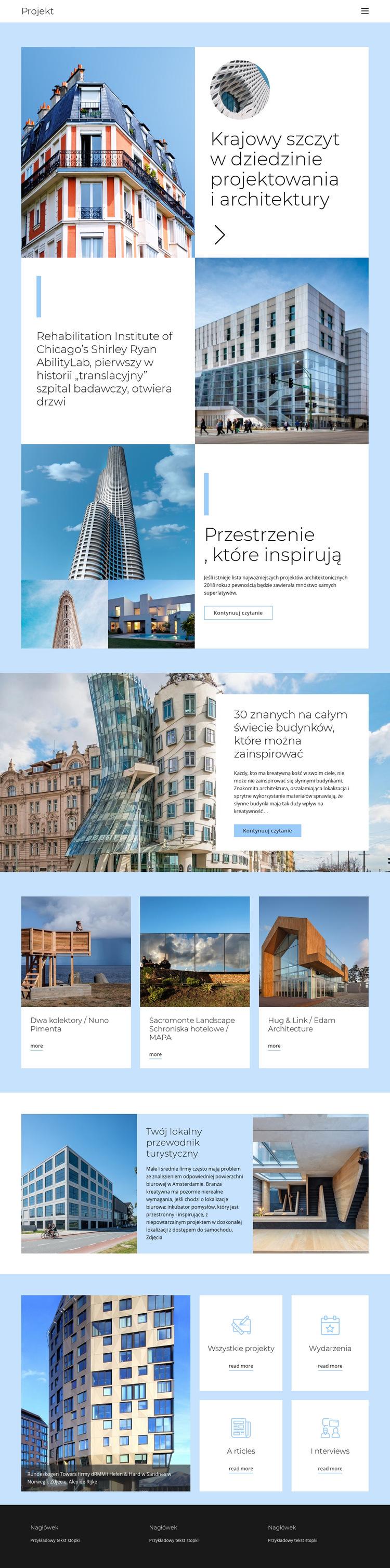Przewodnik po architekturze Szablon witryny sieci Web