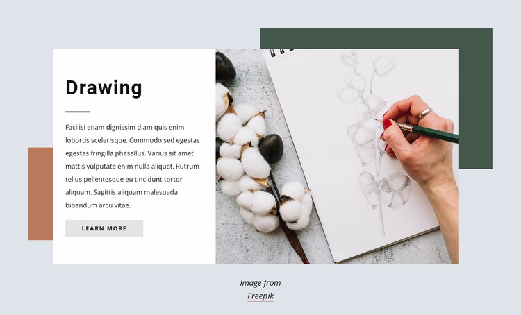 Drawing courses Website Mockup