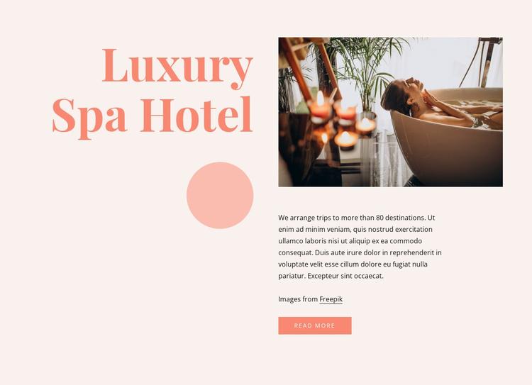 Luxury spa hotel benefits Website Template