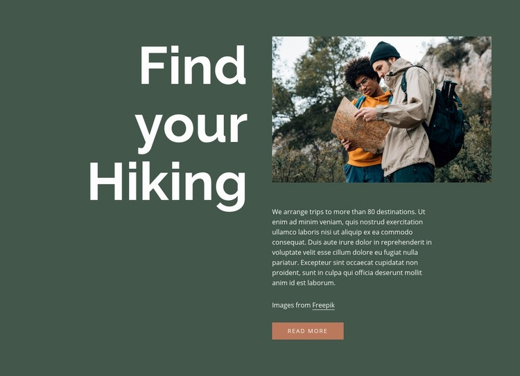 Find your hiking Web Page Design