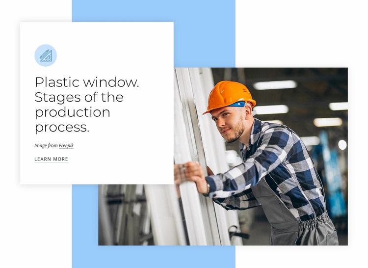 Plastic window production Website Design