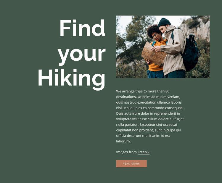 Find your hiking Website Template