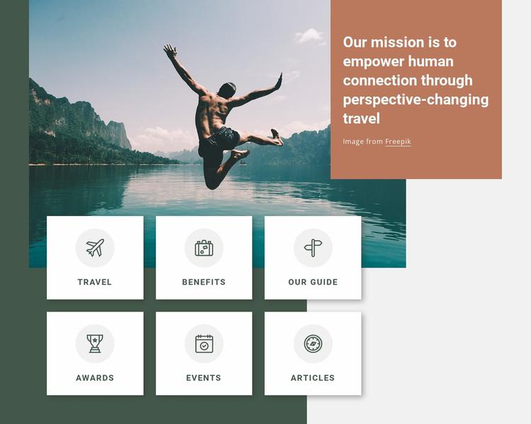 Active and& adventurous Website Template