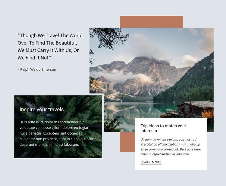 Premium corporate travel agency Homepage Design