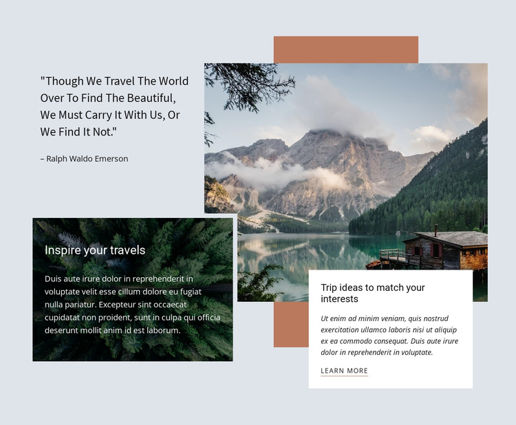Premium corporate travel agency One Page Template