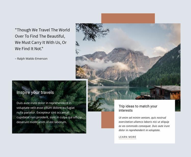 Premium corporate travel agency Website Mockup