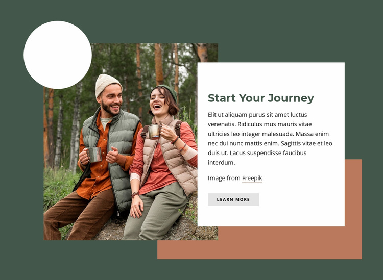 Start your journey Website Template