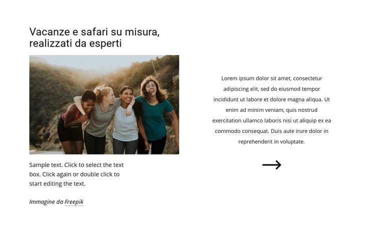Safari realizzati da esperti Modello di sito Web