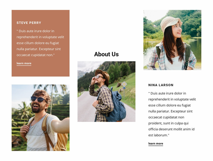 Family-owned travel agency Website Mockup