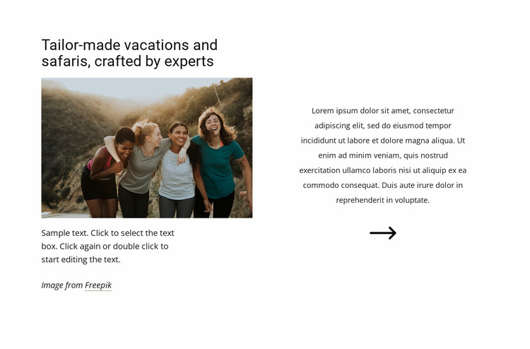 Safaris crafted by experts Website Mockup
