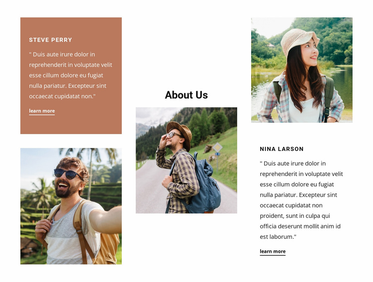 Family-owned travel agency Website Template