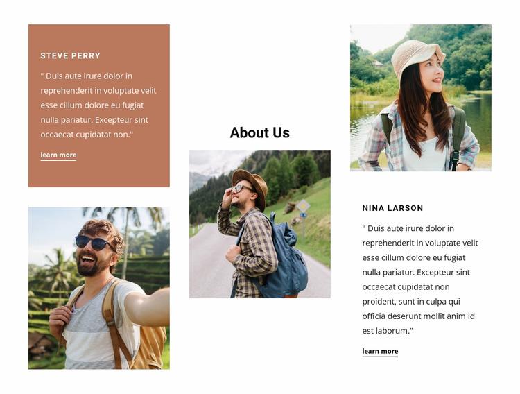 Family-owned travel agency WordPress Website Builder