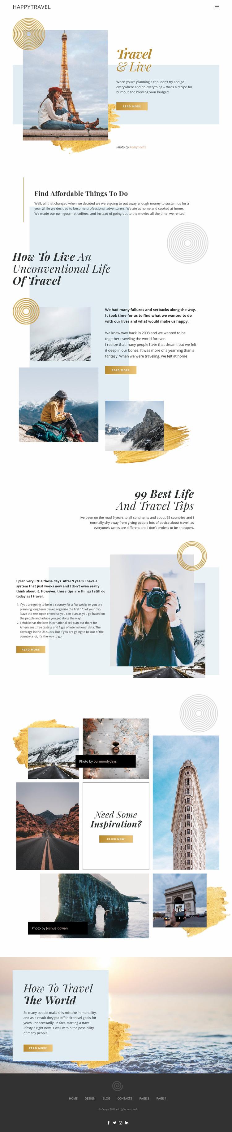 Travel and Live Website Design
