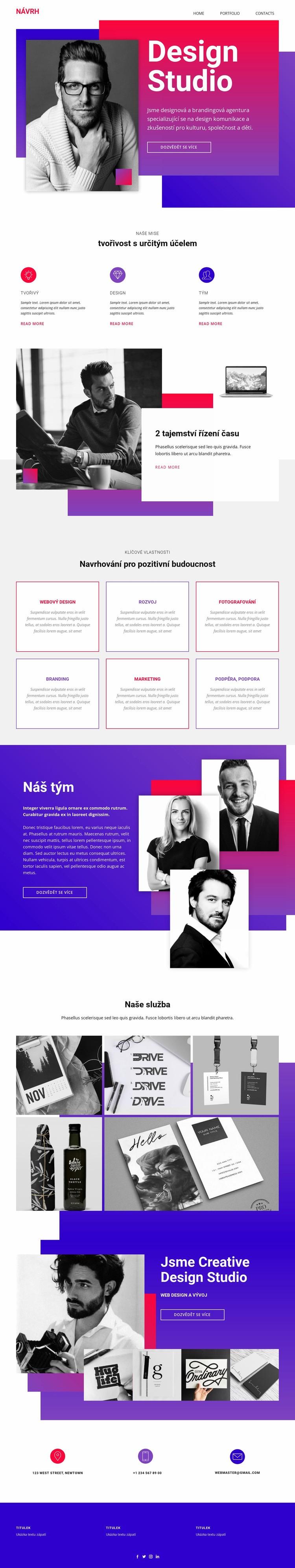 Velké nápady a výjimečné provedení Šablona webové stránky