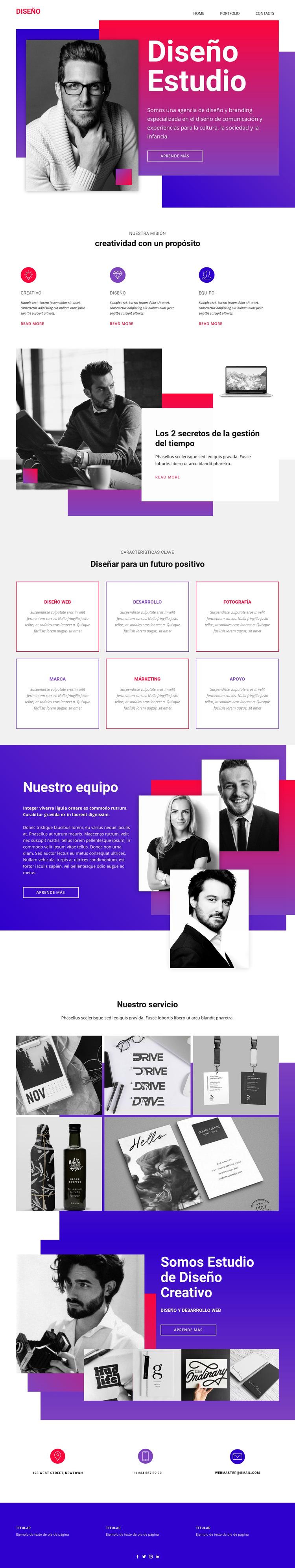 Tiempo arte diseño web Plantilla de sitio web