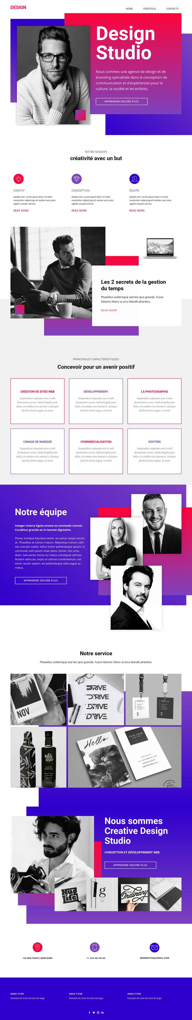 Art de conception de sites Web de temps Modèle de site Web