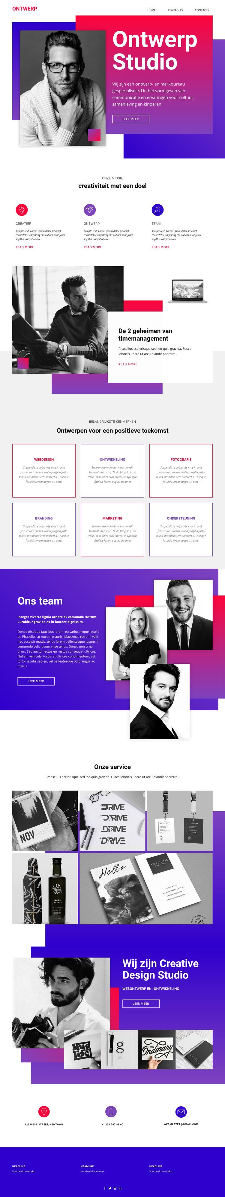 Tijd webdesign kunst Website sjabloon
