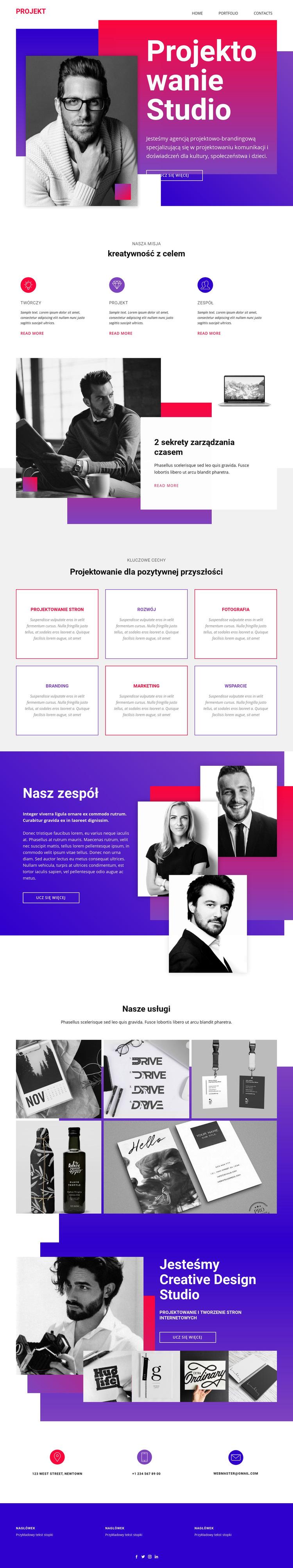 Czas na projektowanie stron internetowych Szablon witryny sieci Web