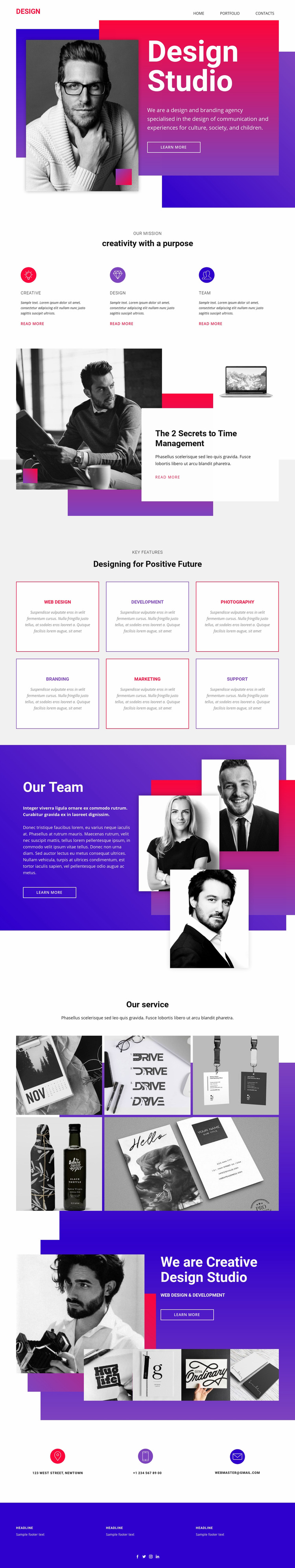 Big ideas and exceptional execution Web Page Design