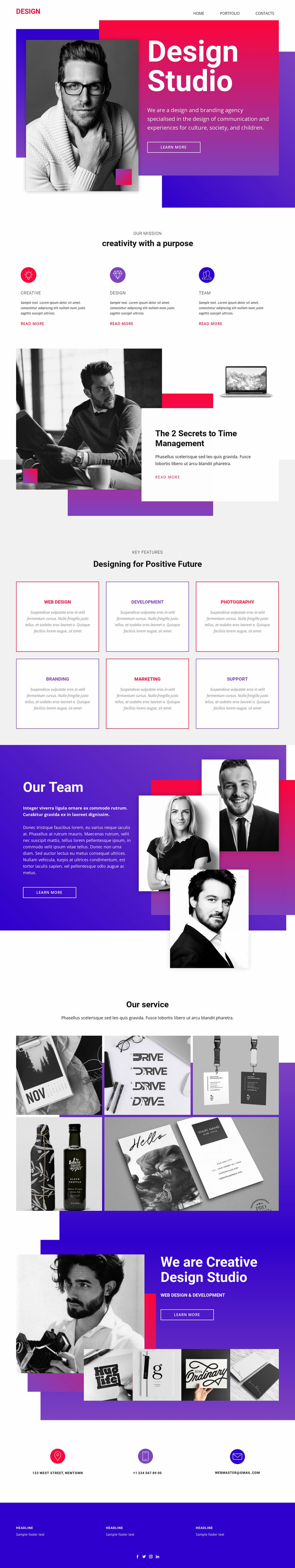 Big ideas and exceptional execution Website Mockup